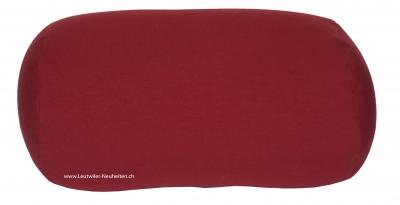 Relax-Baumwollkissen S 30x18 cm Bordeaux